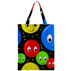 Smiley faces pattern Zipper Classic Tote Bag