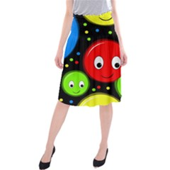 Smiley faces pattern Midi Beach Skirt