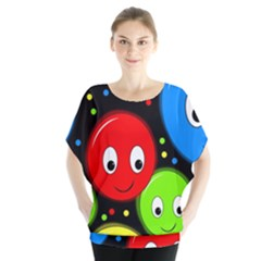 Smiley faces pattern Blouse