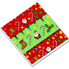 Christmas pattern - green and red Small Memo Pads