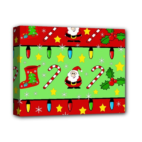 Christmas pattern - green and red Deluxe Canvas 14  x 11
