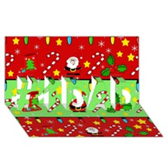 Christmas pattern - green and red #1 DAD 3D Greeting Card (8x4)