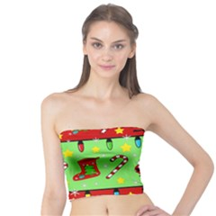 Christmas pattern - green and red Tube Top