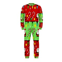 Christmas pattern - green and red OnePiece Jumpsuit (Kids)