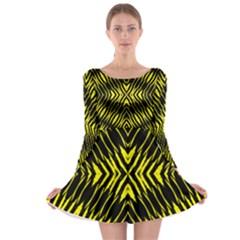 Yyyyyyyyy Long Sleeve Skater Dress