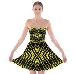 Yyyyyyyyy Strapless Bra Top Dress