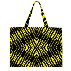 Yyyyyyyyy Zipper Large Tote Bag