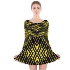 Yyyyyyyyy Long Sleeve Velvet Skater Dress