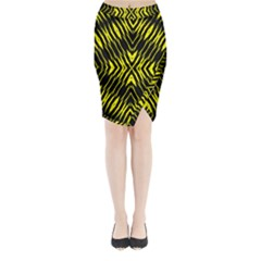 Yyyyyyyyy Midi Wrap Pencil Skirt