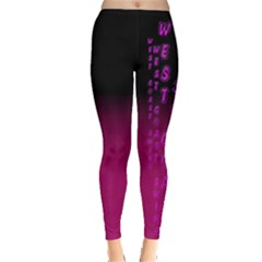 Wcs   Pink Purple Women s Leggings