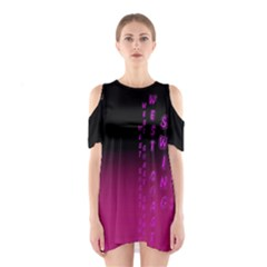 Wcs   Pink Purple Women s Cutout Shoulder Dress