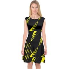 Yyyyyyyyyyjyjtgtg Capsleeve Midi Dress