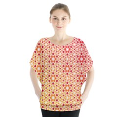 Orange Ombre Mosaic Pattern Blouse