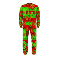 Snowflake red and green pattern OnePiece Jumpsuit (Kids)