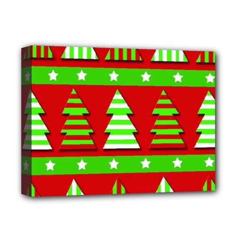 Christmas trees pattern Deluxe Canvas 16  x 12