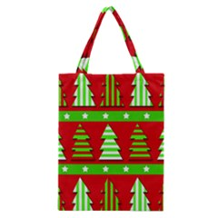 Christmas trees pattern Classic Tote Bag