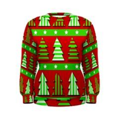 Christmas trees pattern Women s Sweatshirt