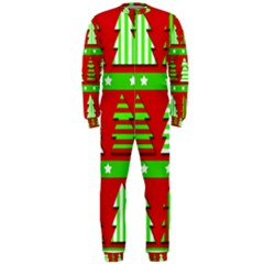Christmas Trees Pattern Onepiece Jumpsuit (men)