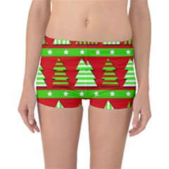 Christmas trees pattern Boyleg Bikini Bottoms