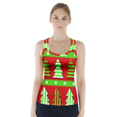 Christmas trees pattern Racer Back Sports Top