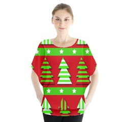 Christmas trees pattern Blouse