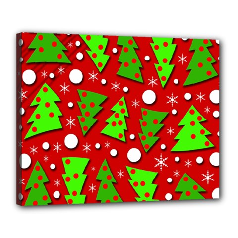 Twisted Christmas trees Canvas 20  x 16
