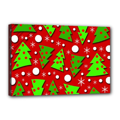 Twisted Christmas trees Canvas 18  x 12