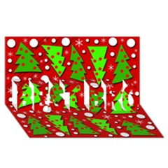 Twisted Christmas trees BEST BRO 3D Greeting Card (8x4)