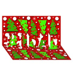 Twisted Christmas trees #1 DAD 3D Greeting Card (8x4)