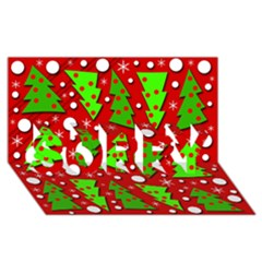 Twisted Christmas trees SORRY 3D Greeting Card (8x4)