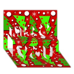 Twisted Christmas Trees Miss You 3d Greeting Card (7x5)