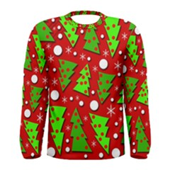 Twisted Christmas trees Men s Long Sleeve Tee