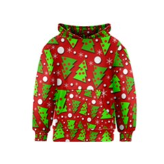 Twisted Christmas trees Kids  Pullover Hoodie