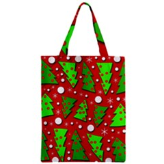 Twisted Christmas trees Zipper Classic Tote Bag