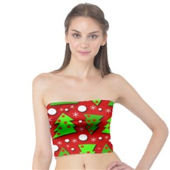 Twisted Christmas Trees Tube Top