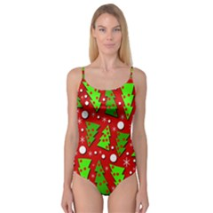 Twisted Christmas Trees Camisole Leotard