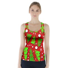 Twisted Christmas trees Racer Back Sports Top