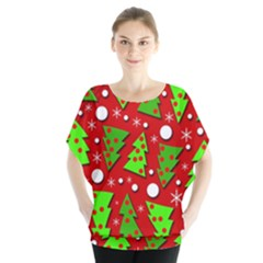 Twisted Christmas Trees Blouse