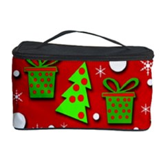 Christmas trees and gifts pattern Cosmetic Storage Case