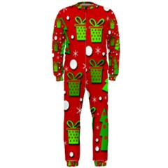 Christmas trees and gifts pattern OnePiece Jumpsuit (Men)