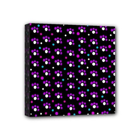 Purple dots pattern Mini Canvas 4  x 4