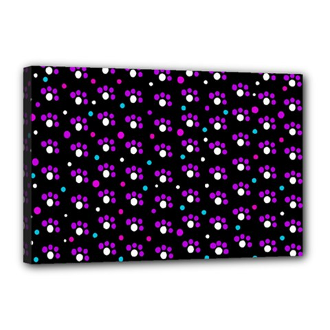 Purple dots pattern Canvas 18  x 12