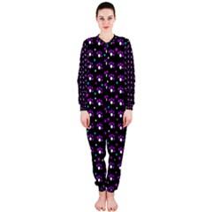 Purple dots pattern OnePiece Jumpsuit (Ladies)