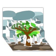 Tree Miss You 3D Greeting Card (7x5)