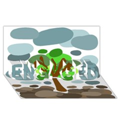 Tree ENGAGED 3D Greeting Card (8x4)