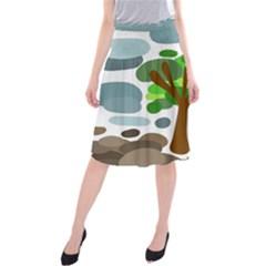 Tree Midi Beach Skirt