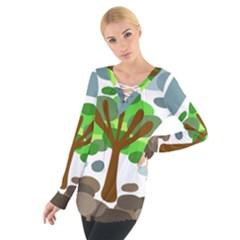 Tree Women s Tie Up Tee