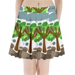 Tree Pleated Mini Skirt