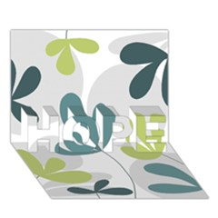 Elegant floral design HOPE 3D Greeting Card (7x5)