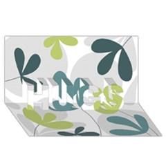 Elegant floral design HUGS 3D Greeting Card (8x4)